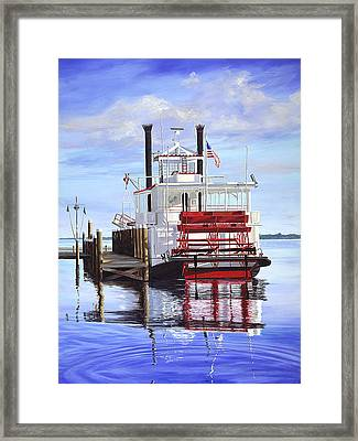 Cocoa Belle At Dock Framed Print by AnnaJo Vahle