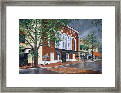 Framed Print featuring the painting Cocoa Village Playhouse by AnnaJo Vahle