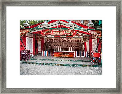 Coconut Shy Framed Print by Adrian Evans