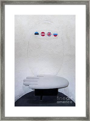 Cocoon Exhibit Interior Framed Print by Jaak Nilson