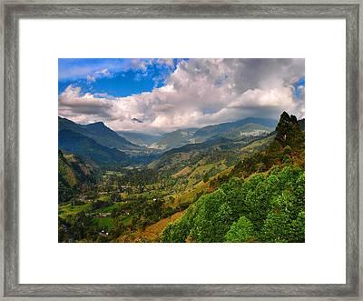 Cocora Valley Framed Print by Skip Hunt