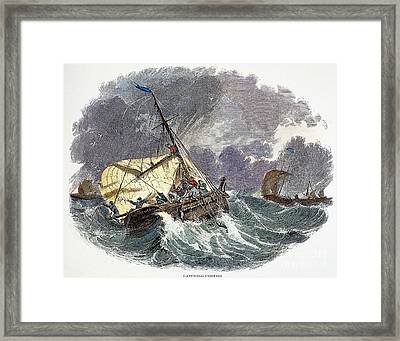 Cod Fishing In New England Framed Print by Granger