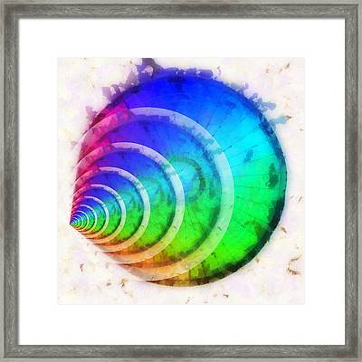 Code Of Colors 9 Framed Print by Angelina Vick