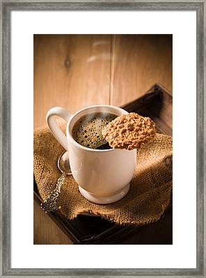 Coffee And Biscuit Framed Print by Amanda Elwell