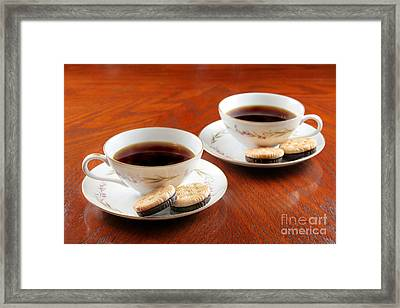 Coffee And Cookies Framed Print by Darren Fisher