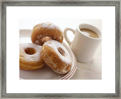 Coffee And Doughnuts Framed Print by Erika Craddock