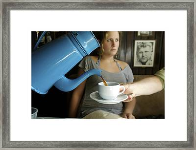 Coffee Being Served In Framed Print by Sisse Brimberg & Cotton Coulson, KEENPRESS
