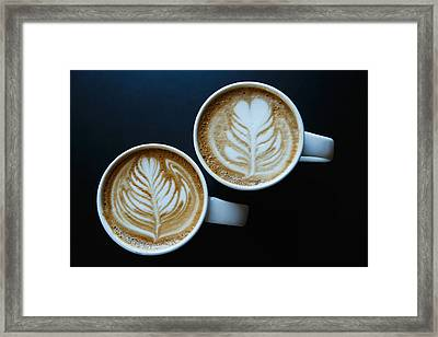 Coffee Delight With Latte Art Framed Print