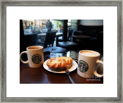 Coffee In Berlin Framed Print by Tanya  Searcy