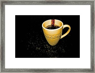 Coffee In The Big Yellow Cup Framed Print