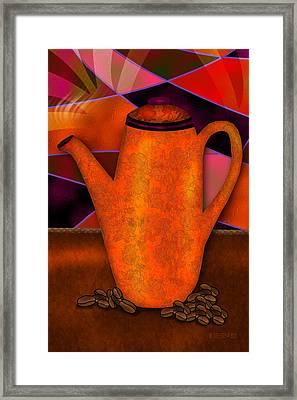 Coffee Pot Framed Print by Melisa Meyers