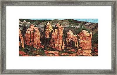 Coffee Pot Rock Framed Print by Sandy Tracey