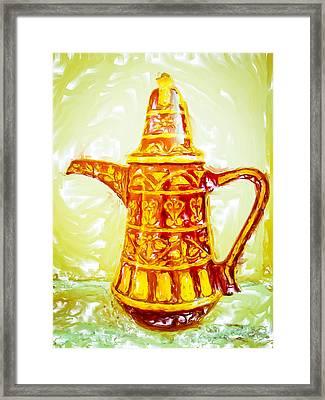 Coffee Pot Framed Print by Tom Gowanlock