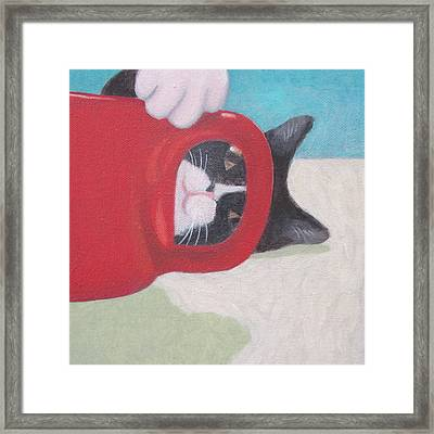 Coffee With Henry #3 Framed Print by Kazumi Whitemoon