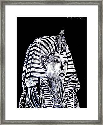 Framed Print featuring the drawing Coffin Of The King by Lisa Brandel