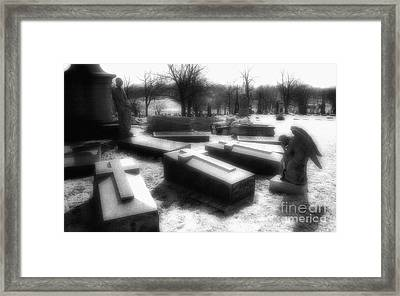Coffins And Angel Framed Print by Jeff Holbrook