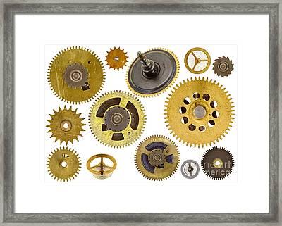 Cogwheels - Gears Framed Print by Michal Boubin