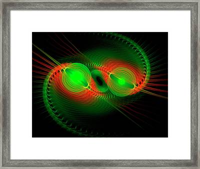Coiled Framed Print by Carolyn Marshall