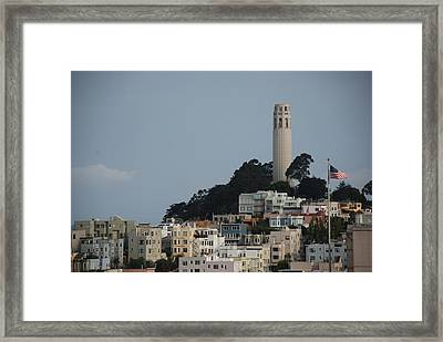 Framed Print featuring the photograph Coit Tower by Eric Tressler