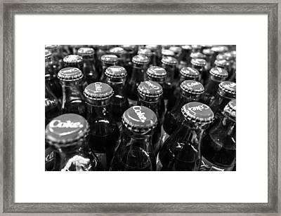 Coke - Bw Framed Print