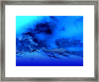 Cold And Blue Framed Print