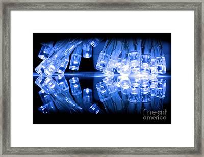 Cold Blue Led Lights Closeup Framed Print