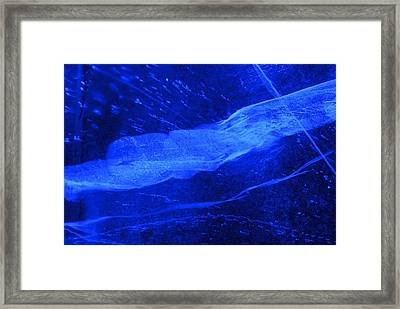 Cold Blue Ribbon Framed Print by