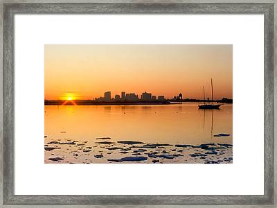 Cold Fire Framed Print by Michelle Wiarda