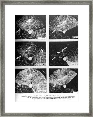 Cold Front, X-band Radar, 1943 Framed Print by Science Source