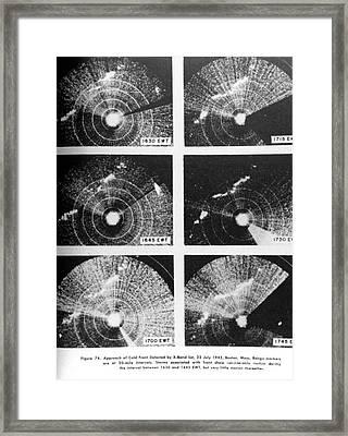 Cold Front, X-band Radar, 1943 Framed Print
