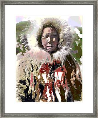 Framed Print featuring the mixed media Cold Man by Charles Shoup