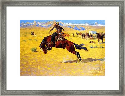 Cold Morning On The Range Framed Print by Pg Reproductions