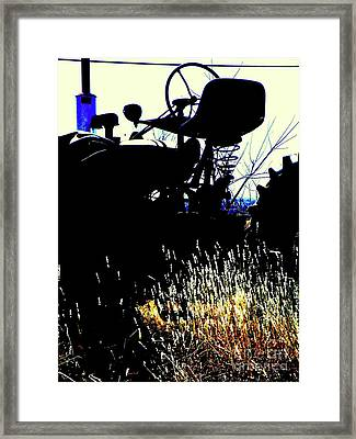 Cold Morning Tractor  Framed Print by Joe Jake Pratt