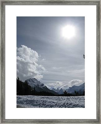 Framed Print featuring the photograph Cold Mountains by Brian Sereda