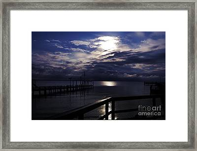 Framed Print featuring the photograph Cold Night On The Water by Clayton Bruster