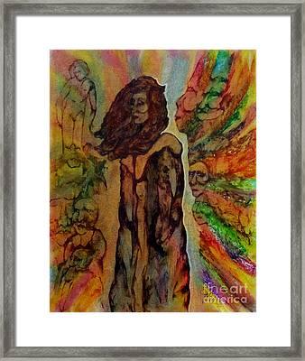 Cold Shoulder Framed Print by Linda May Jones