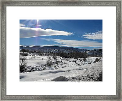 Cold Sun Framed Print by Adam Cornelison