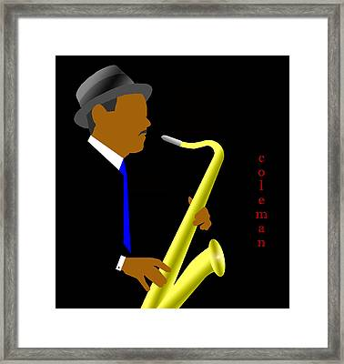 Coleman Hawkins Framed Print by Victor Bailey