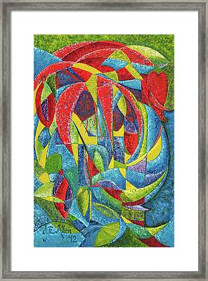 Colibri Framed Print by Joseph Edward Allen
