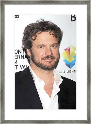 Colin Firth At Arrivals For Easy Virtue Framed Print