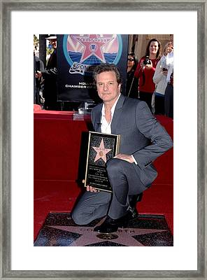 Colin Firth At The Induction Ceremony Framed Print by Everett