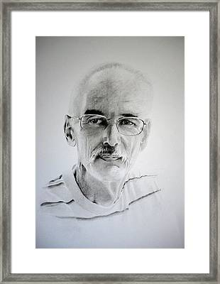 Framed Print featuring the drawing Colin by Lynn Hughes