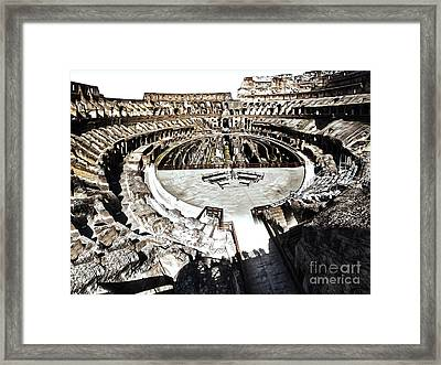 Coliseum  - Bleached Version Framed Print by Gregory Dyer