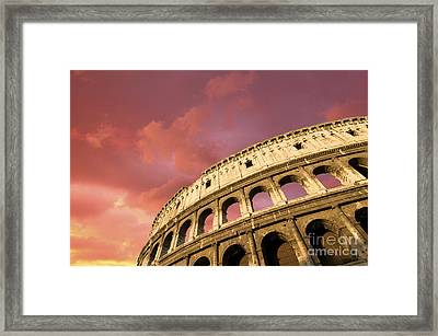 Coliseum. Rome. Lazio. Italy. Europe Framed Print by Bernard Jaubert