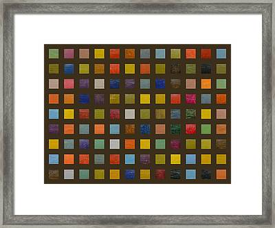Collage Color Study Lll Framed Print by Michelle Calkins