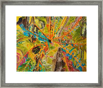 Framed Print featuring the painting Collage Of Leaves by Meryl Goudey