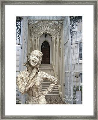Collage Vladimir Mialy1 Framed Print by Yury Bashkin