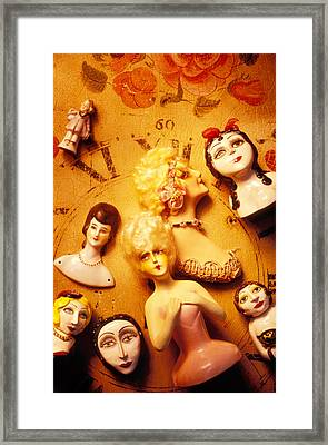 Collectable Dolls Framed Print by Garry Gay