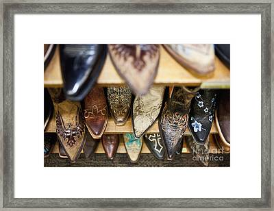 Collection Of Cowboy Boots Framed Print