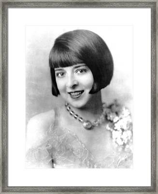 Colleen Moore, Ca. Late 1920s Framed Print by Everett
